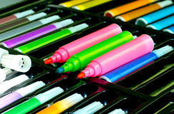 Color pen set Royalty Free Stock Photo