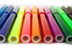 Color pen-tips. On white background Stock Image