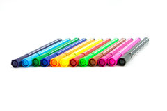 Color pen. On white background stock illustration