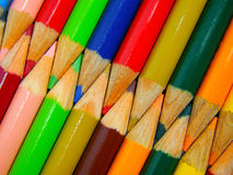 Color pencil. Colored pencils side by side that can be used as background royalty free stock photography