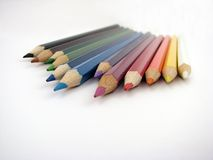 Color pencil. Bunch of color pencils Stock Photography