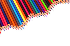 Color pencil. Isolated on white stock images
