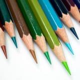 Color pencil. Green tone of color pencil Stock Photo