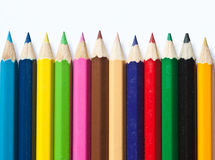 Color pencil. Several color pencils on white background Royalty Free Stock Image
