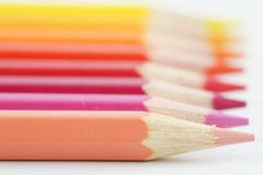 Color Pencil. Colored pencil on a white background Stock Image
