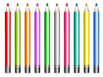 Color pencil. In white background Royalty Free Stock Image