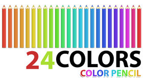 Color pencil. Isolated on white Royalty Free Stock Images