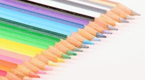 Color Pencil. Multi color pencil normally used by school children Royalty Free Stock Image