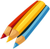 Color pencil. Illustration of isolated color pencil on white background Stock Images