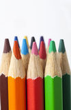 Color pencil. A close-up of colored pencils Royalty Free Stock Images
