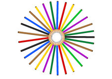 Color pencil. On white background, generated by the computer Stock Photos
