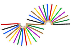 Color pencil. On white background, generated by the computer Stock Images