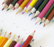 Color pencil. Under the white background Stock Photos