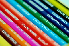 Color pencil-3. Colorful pencil in the box Royalty Free Stock Photography