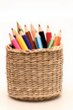 Color pencil. A rainbow of color pencil Royalty Free Stock Images