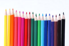 Color pencil. These are some color pencils Stock Photo