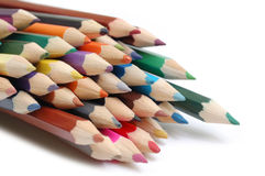 Color pencil. Collections of pencil on a white background royalty free stock image