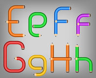 Color pencil alphabet style Royalty Free Stock Photography