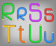 Color pencil alphabet style Royalty Free Stock Image