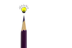 Free Color Pencil And Light Bulb On White,concept Idea Royalty Free Stock Image - 72108026