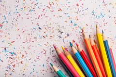 Color pencil. Art artistic background blue bright celebration royalty free stock photo