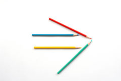 Color pencil as arrow Royalty Free Stock Photo