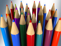 Color pencil on background Stock Images