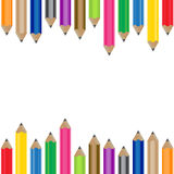 Color Pencil Background. This Color Pencil background set is great for, kid's theme  design or kindergarten colorfull childish  pencil color  drawing birthday Stock Images