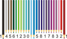Color pencil barcode Stock Images