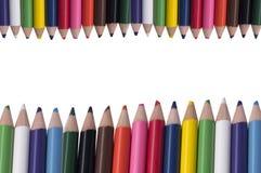 Color pencil border and frame Stock Photos