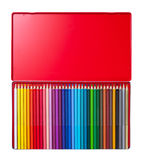 Color pencil in box Royalty Free Stock Images
