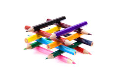 Color pencil building Stock Photography