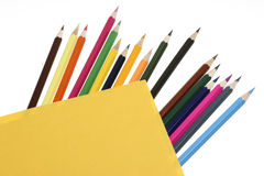 Color Pencil. Close up of color pencils with different color Stock Image