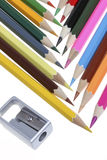 Color Pencil. Close up of color pencils with different color Royalty Free Stock Photography