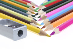 Color Pencil. Close up of color pencils with different color Royalty Free Stock Image