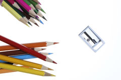 Color Pencil. Close up of color pencils with different color Royalty Free Stock Photos