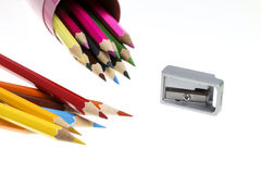 Color Pencil. Close up of color pencils with different color Stock Photo