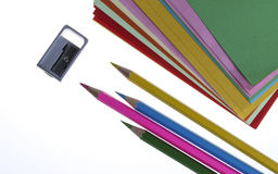 Color Pencil. Close up of color pencils with different color Royalty Free Stock Photo
