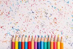 Color pencil. Art artistic background blue bright celebration stock photography