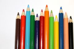 Color Pencil. S on white backround royalty free stock images