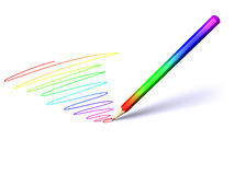 Color pencil with color shading Royalty Free Stock Image