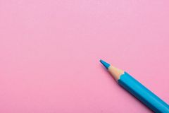Color pencil on colored background stock image