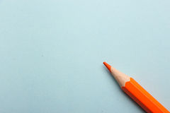 Color pencil on colored background Royalty Free Stock Photos