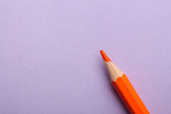 Color pencil on colored background Stock Photography