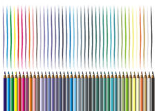 Color Pencil. Colorful Color Pencil illustrations background Royalty Free Stock Images