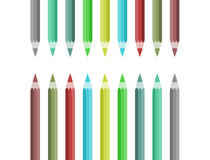 Color pencil. Composed of a certain shape Stock Photography