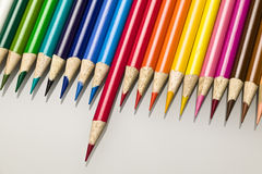 Color pencil crayons Royalty Free Stock Photography