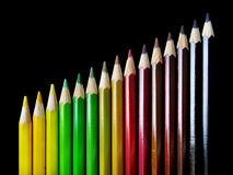 Color Pencil Crayons Stock Image