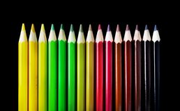 Color Pencil Crayons Stock Photos