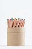 Color Pencil In Cup Stock Photo